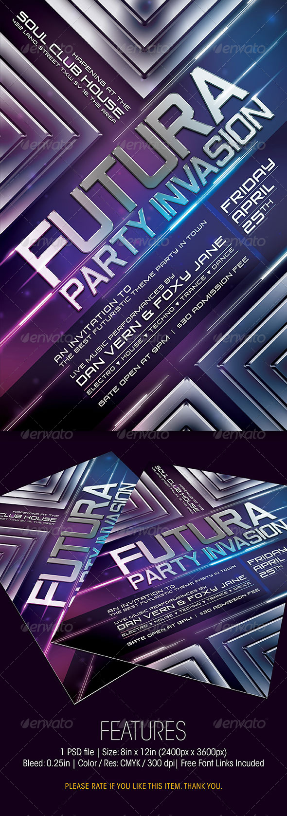 GraphicRiver Futura Party Invasion 6434606
