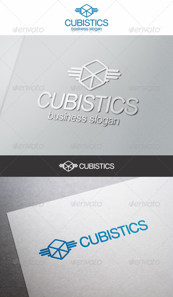 Cubistics Logistic or Software Logo - Symbols Logo Templates