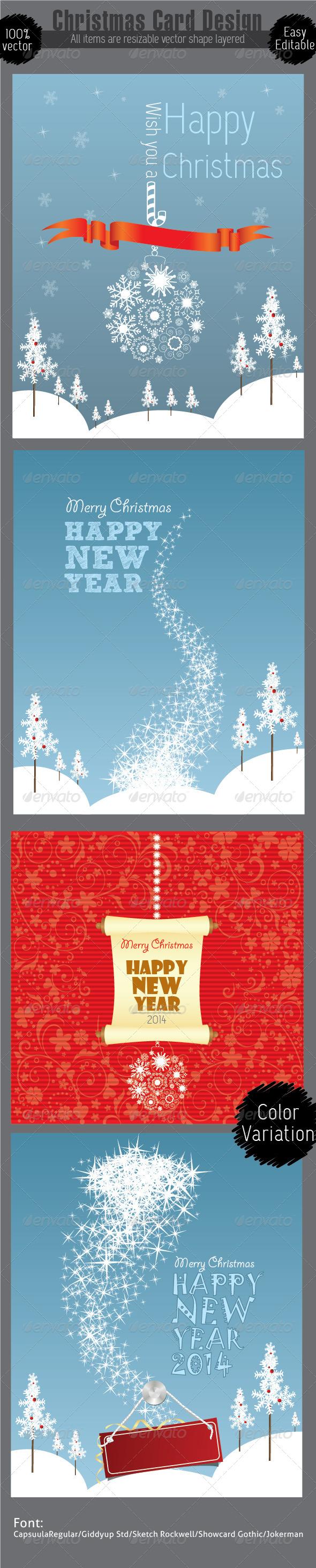GraphicRiver Christmas Card Design Template 6465013