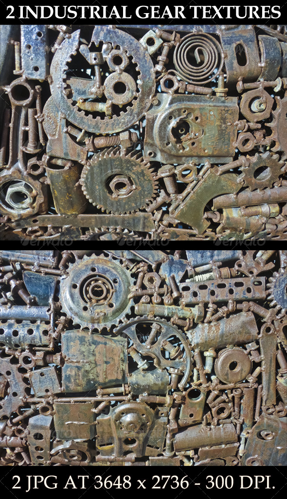 GraphicRiver 2 Industrial Gear Textures 6469723