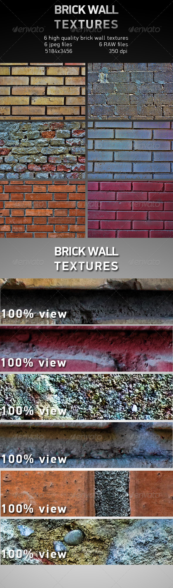 GraphicRiver Brick Wall Textures 6469736