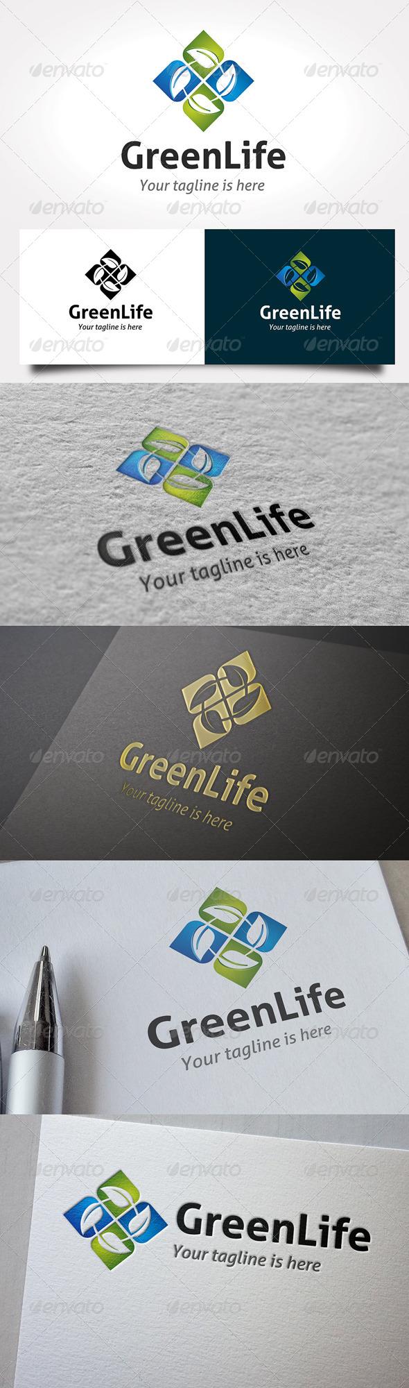 GraphicRiver Green Life Logo 6469792