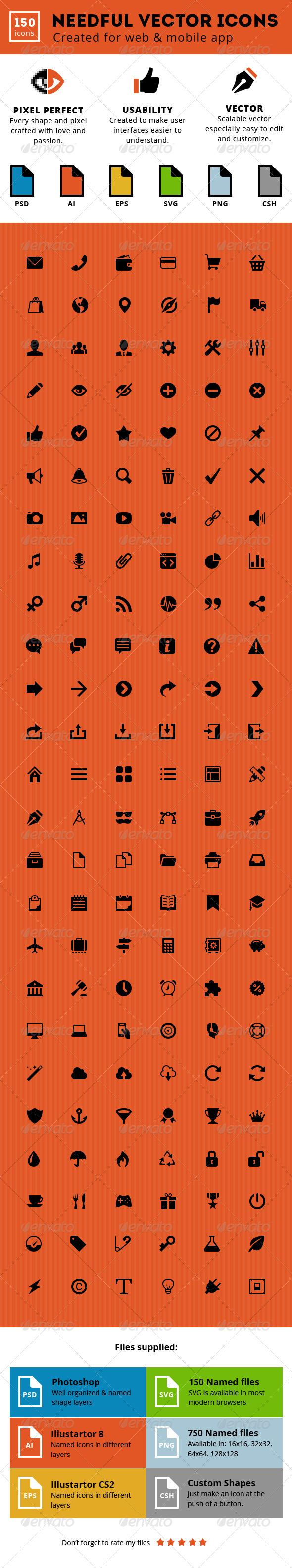 GraphicRiver Needful Vector Icons 6469804
