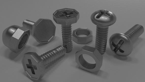 Engineering Fastner Pack - 3DOcean Item for Sale