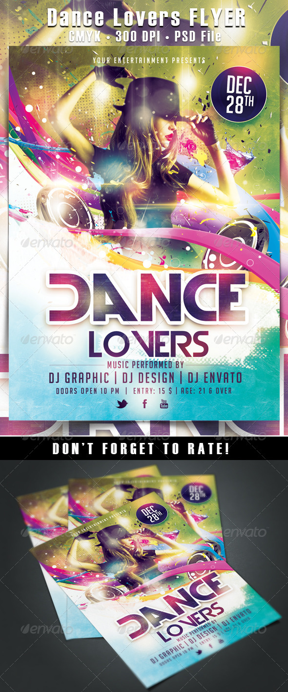 Dance Lovers Flyer - Clubs & Parties Events