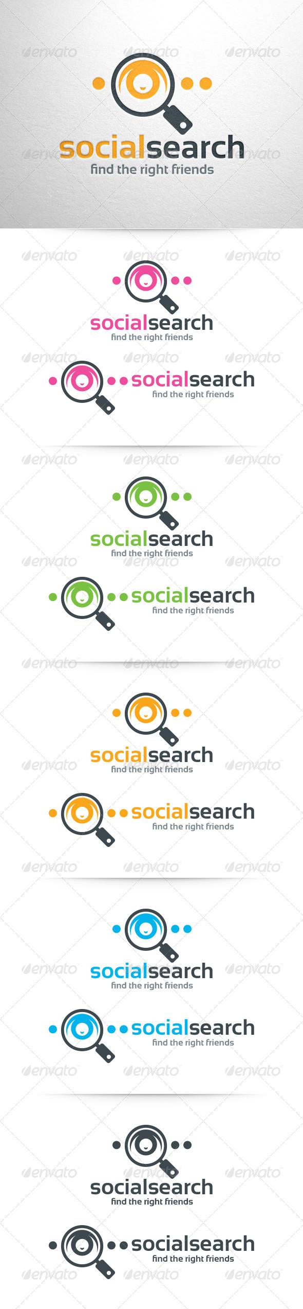 GraphicRiver Social Search Logo Template 6469844