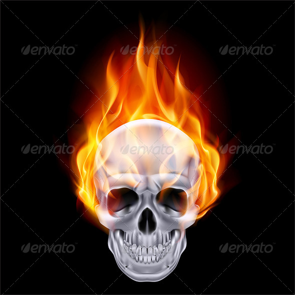 GraphicRiver Fiery Skull 6469941