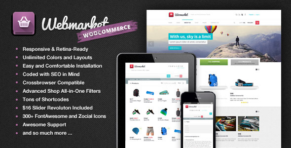 Webmarket - WordPress Theme for Online Shops