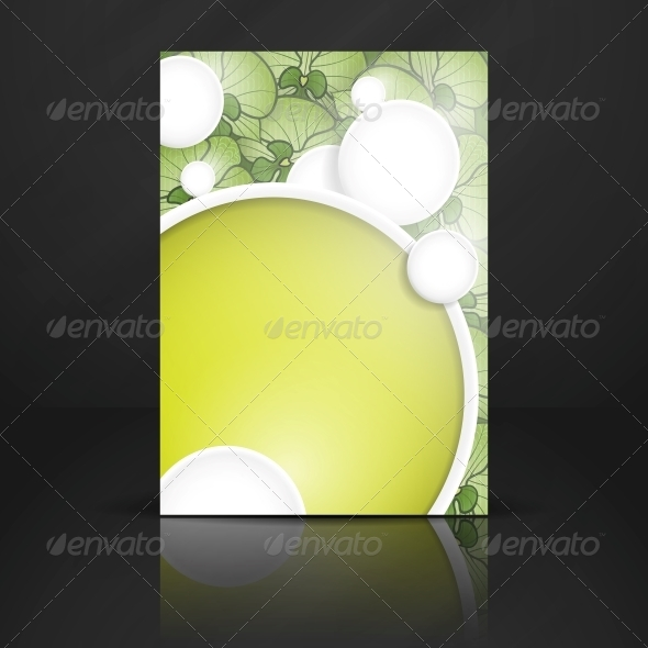 GraphicRiver Abstract Background with White Paper Circles 6470166