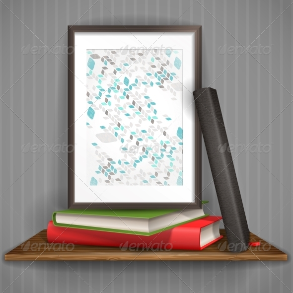 GraphicRiver Wood Shelf with Photo Frame 6470178