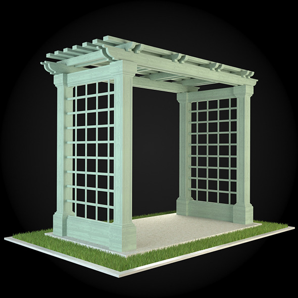 Pergola 002 - 3DOcean Item for Sale