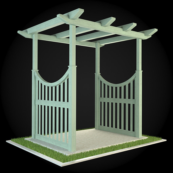 Pergola 004 - 3DOcean Item for Sale
