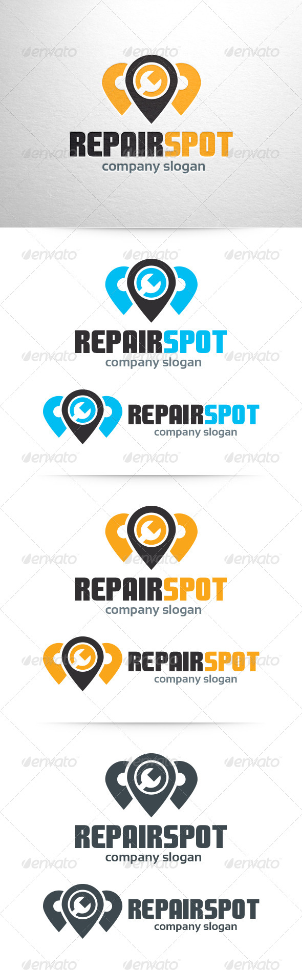 GraphicRiver Repair Spot Logo Template 6470409