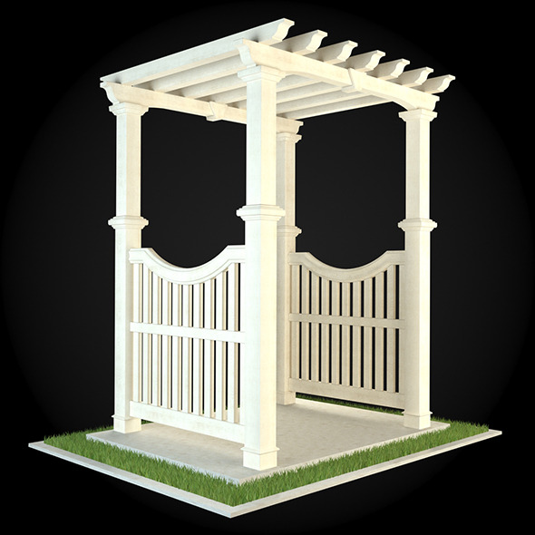 Pergola 006 - 3DOcean Item for Sale