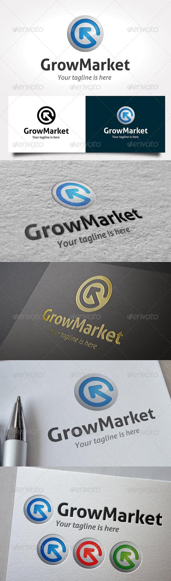GraphicRiver Grow Market Logo 6470540
