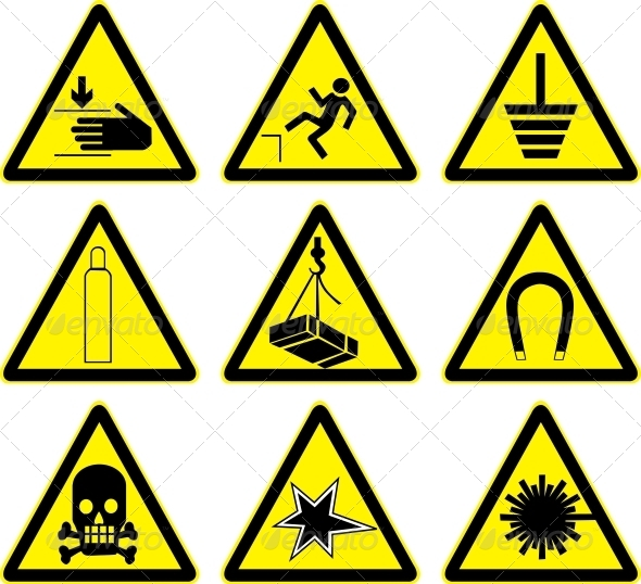 GraphicRiver Set of Warning Signs 6470543
