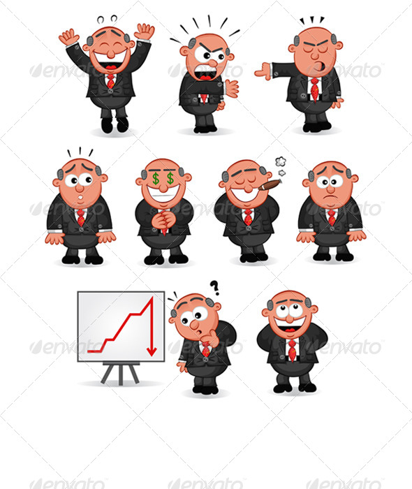 GraphicRiver Cartoon Boss Set 6470549