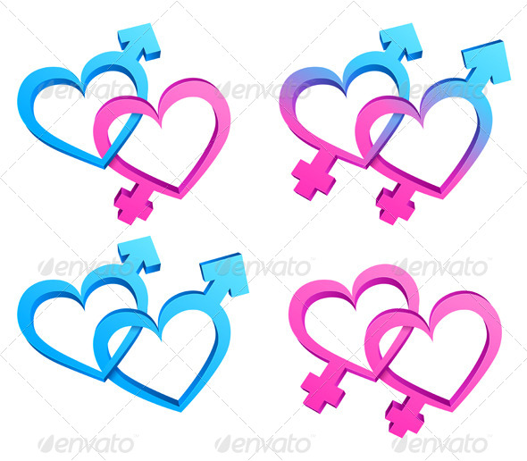 GraphicRiver Gender Symbols 6470591