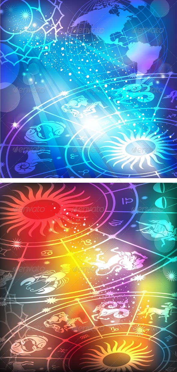 GraphicRiver Backgrounds with a Horoscope 6470922