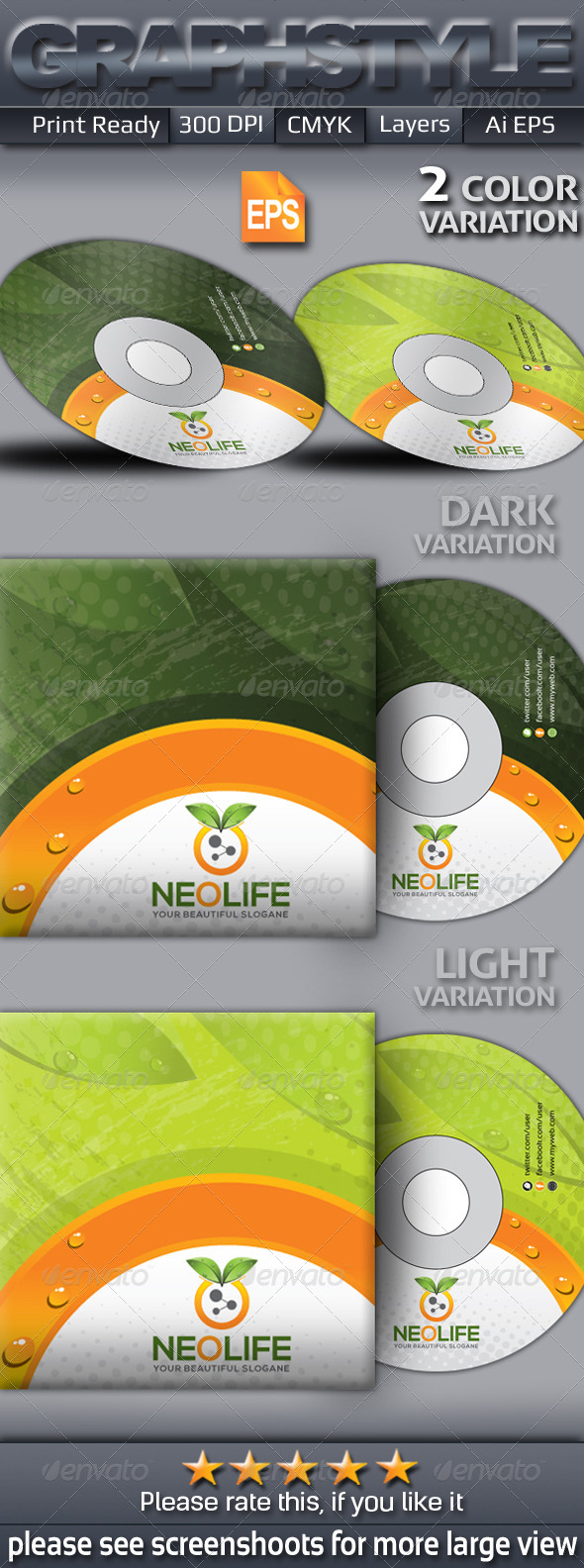 GraphicRiver Neolife CD sleeve & sticke 6471036