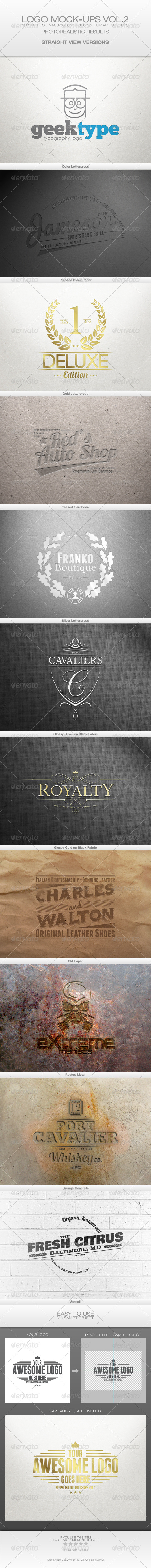 GraphicRiver Logo Mock-ups Vol.2 Straight View 6471076