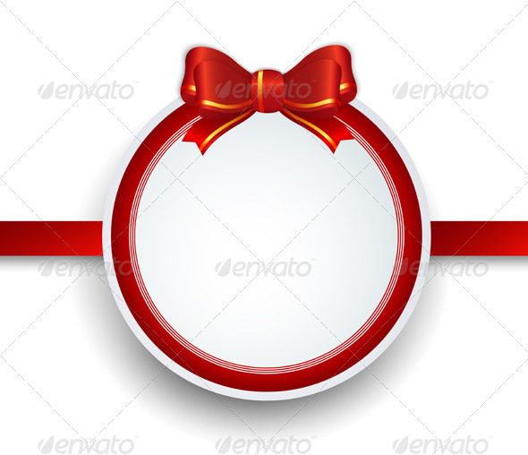 GraphicRiver Christmas Frame with Ribbon 6471102