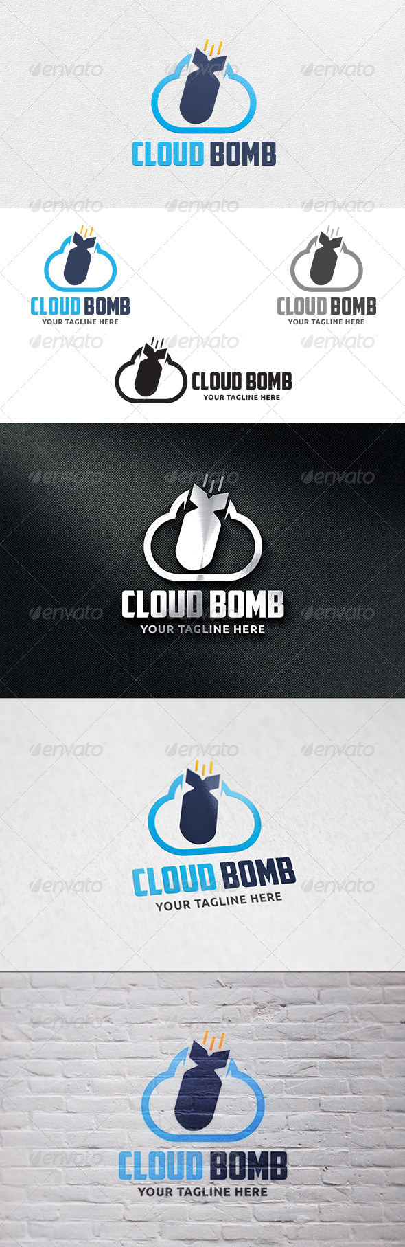 GraphicRiver Cloud Bomb Logo Template 6471111
