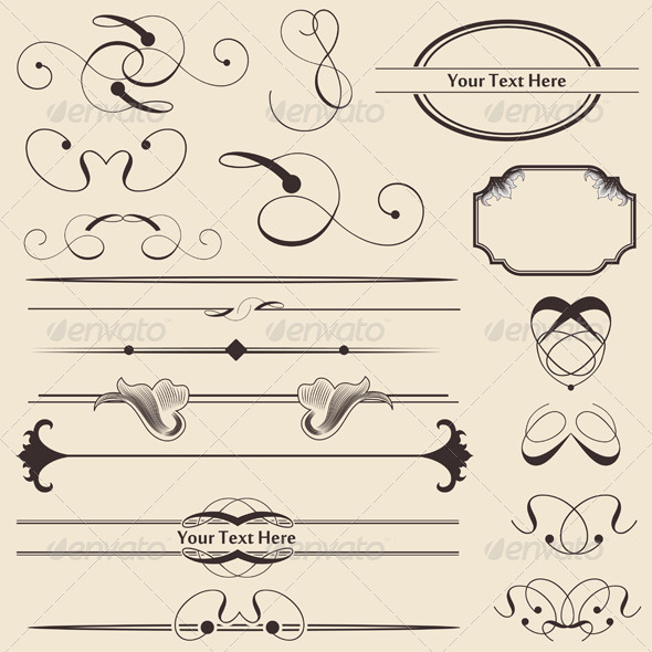 GraphicRiver Calligraphic Page Decorations 676386