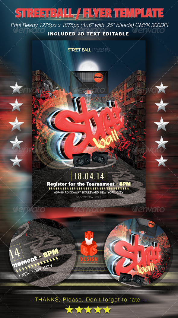 GraphicRiver Streetball Flyer Template 6441576