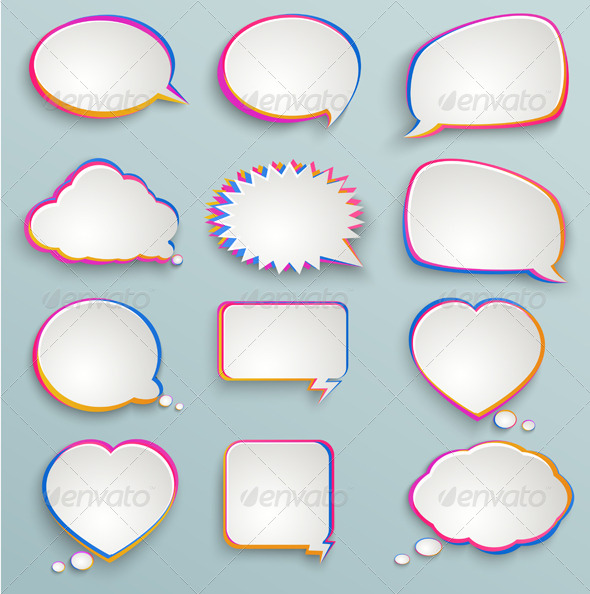 GraphicRiver Paper Speech Bubbles 6471258