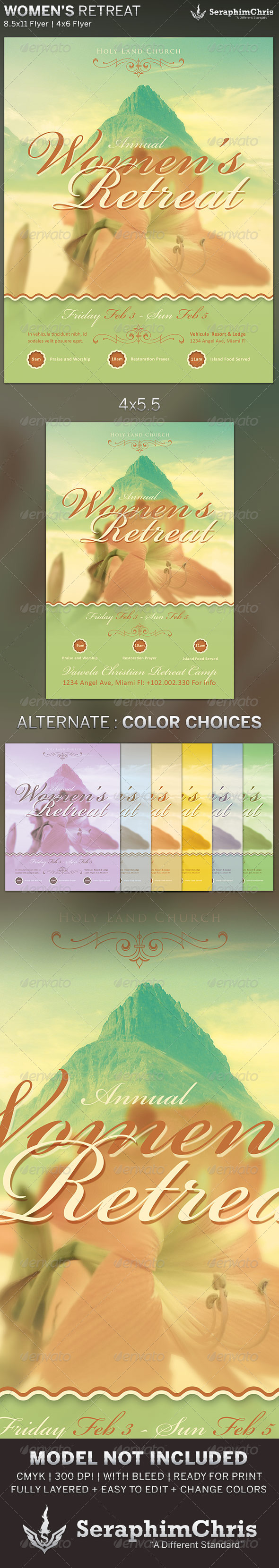 GraphicRiver Women s Retreat Church Flyer Template 6471260