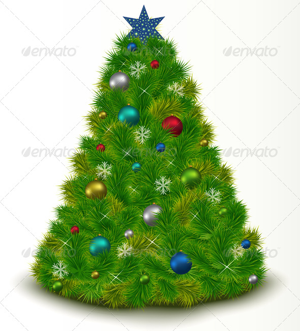 GraphicRiver Christmas Tree with Toys 6471313
