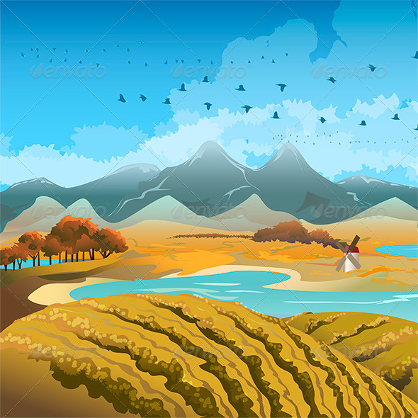 GraphicRiver Autumn Landscape 6471360