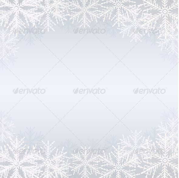 GraphicRiver Winter Background with White Snowflakes 6471375