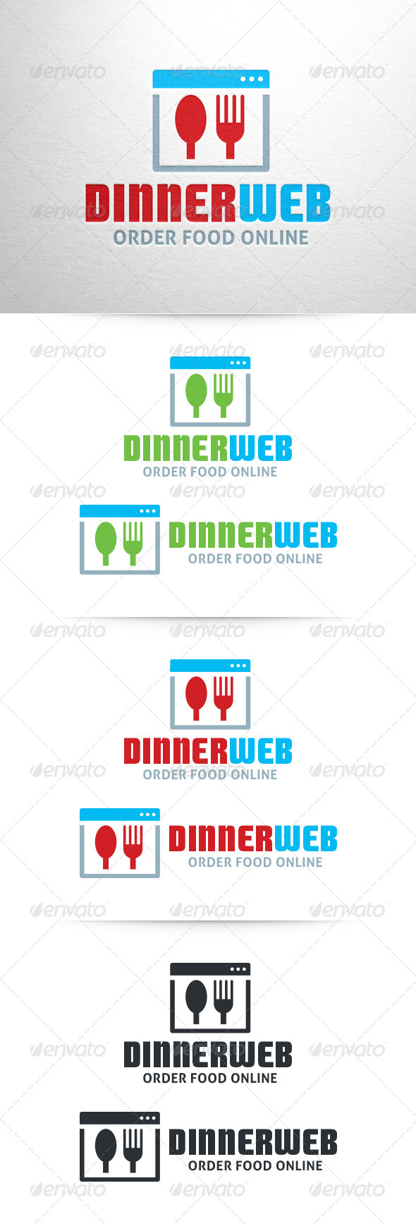 GraphicRiver Dinner Web Logo Template 6471377