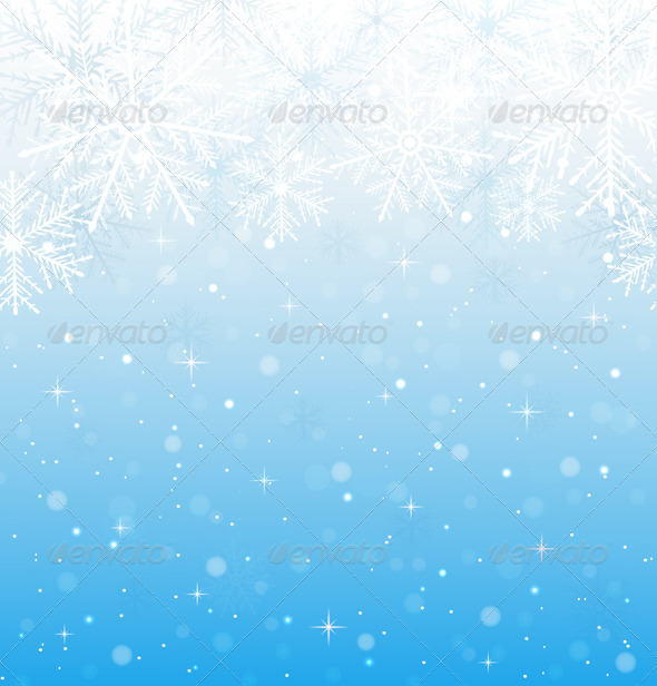 GraphicRiver Blue Background with Snowflakes 6471390