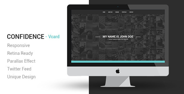 ThemeForest Confidence Responsive VCard Template 6471837