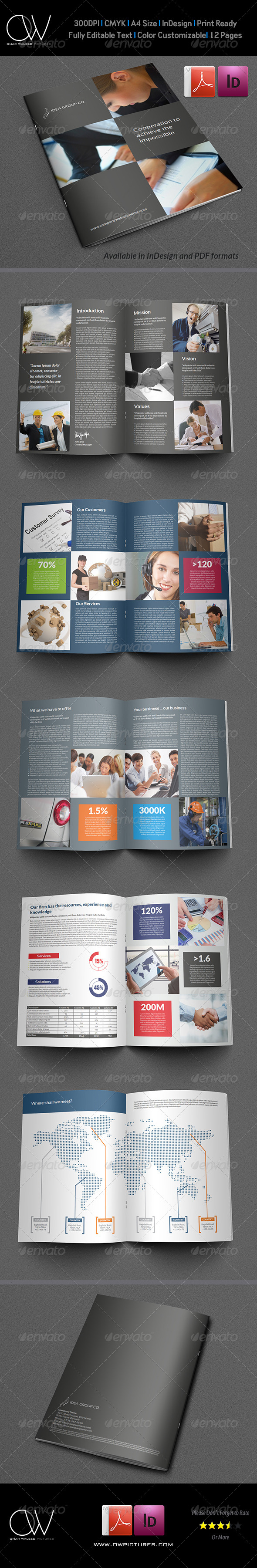 GraphicRiver Corporate Brochure Template Vol.17 12 Pages 6472077