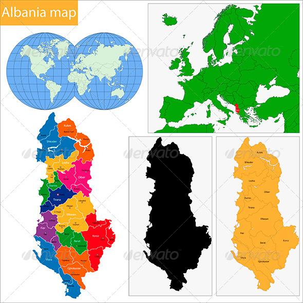 GraphicRiver Albania Map 6472199