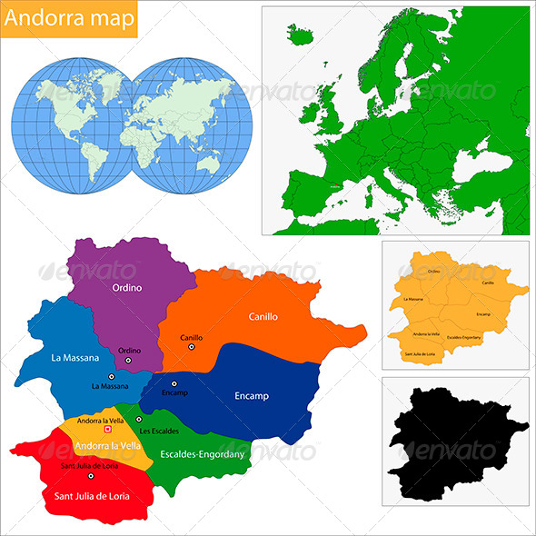 GraphicRiver Andorra Map 6472254