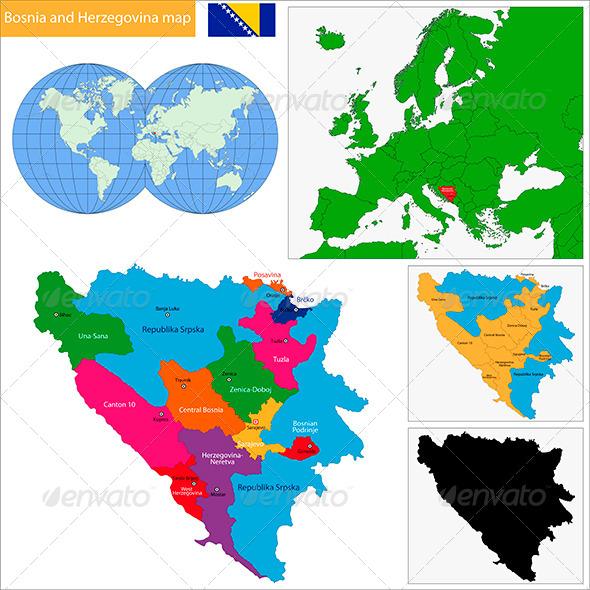GraphicRiver Bosnia and Herzegovina Map 6472279