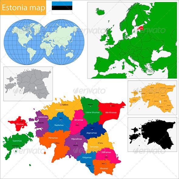 GraphicRiver Estonia Map 6472316