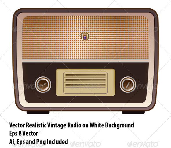 GraphicRiver Vintage Radio 6472333