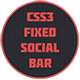 CSS3 Fixed Social Bar - CodeCanyon Item for Sale