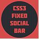 CSS3 Vaste Social Bar - WorldWideScripts.net punt voor verkoop