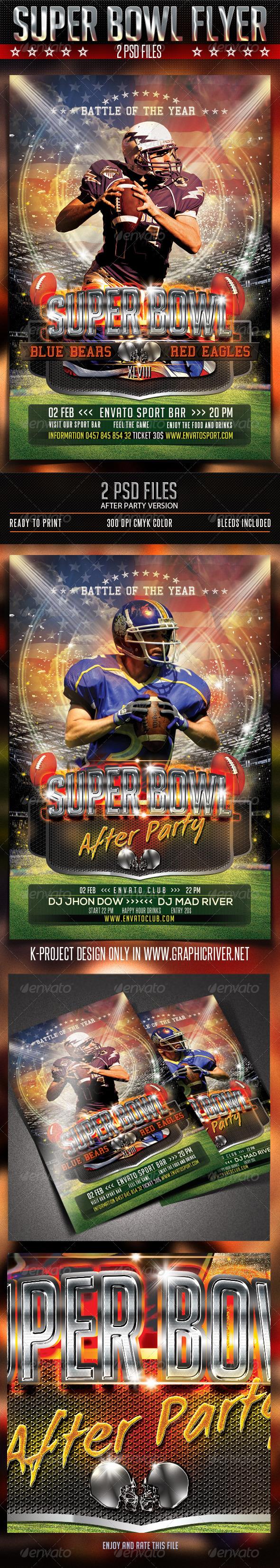 GraphicRiver Super Bowl Flyer 6446249