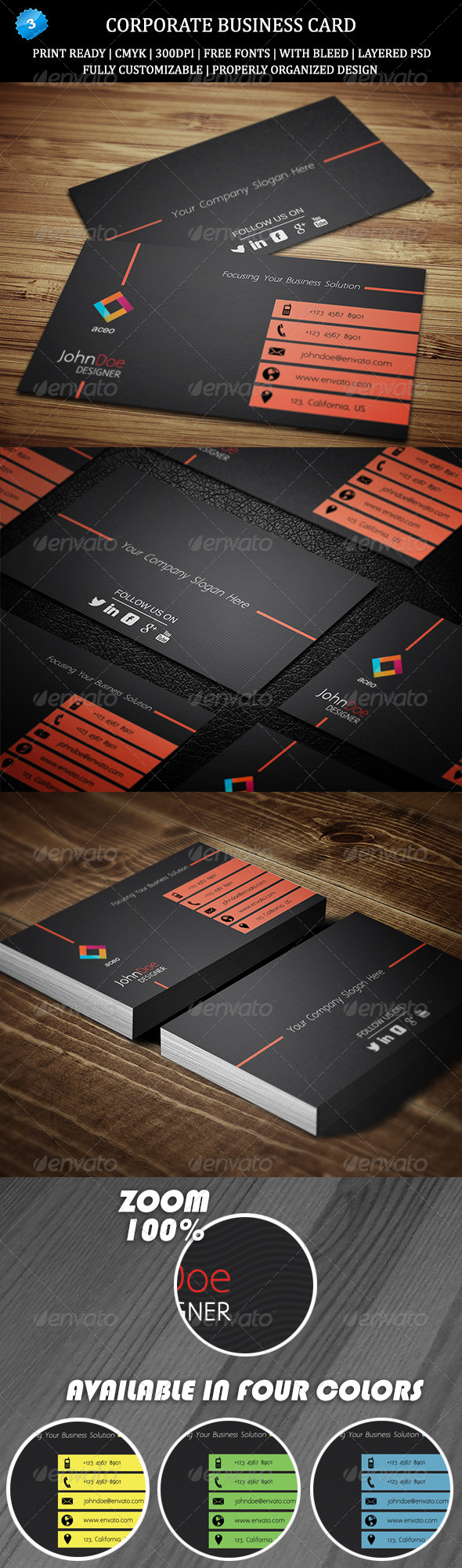 GraphicRiver Corporate Business Card 3 6472481