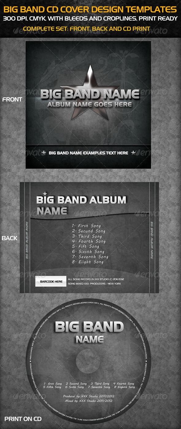 GraphicRiver Big Band Cd Cover Templates 676560