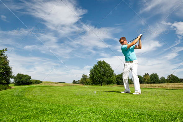 golf player - Stock Photo - Images