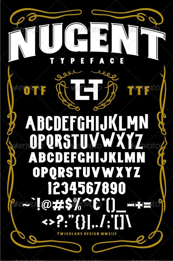 GraphicRiver Nugent Typeface 6473067
